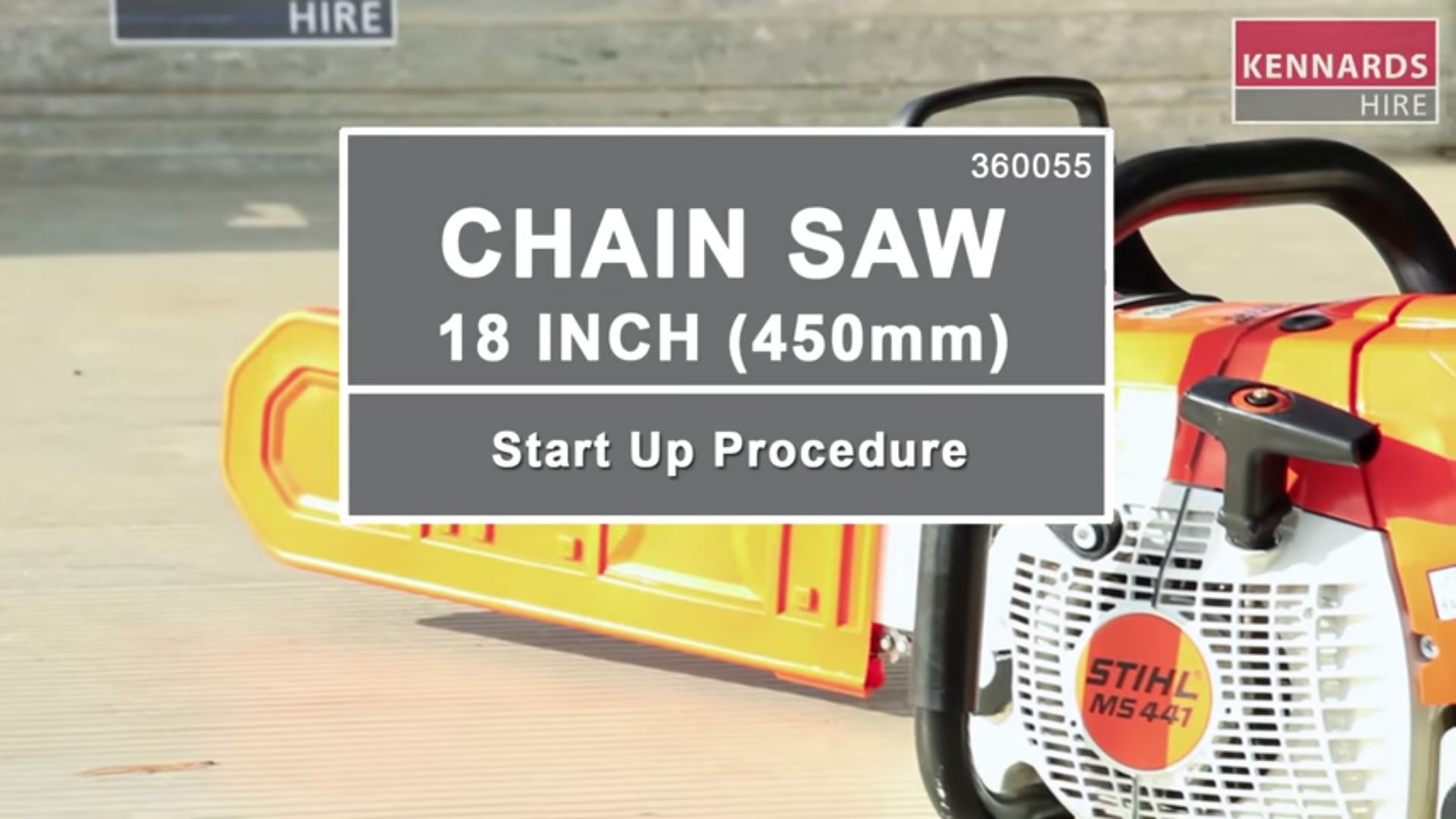 How to start up a Chainsaw