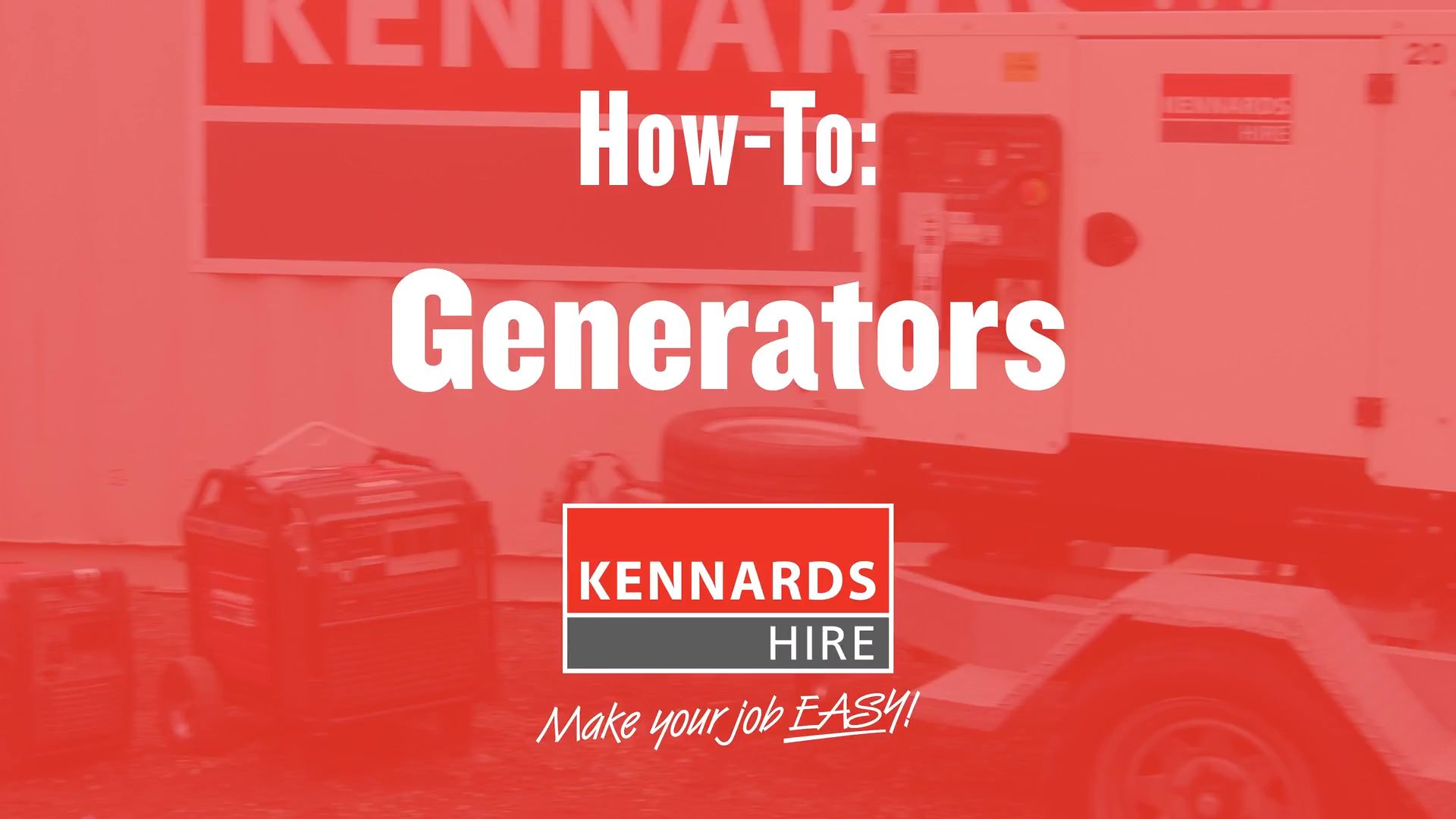 How to operate a Generator