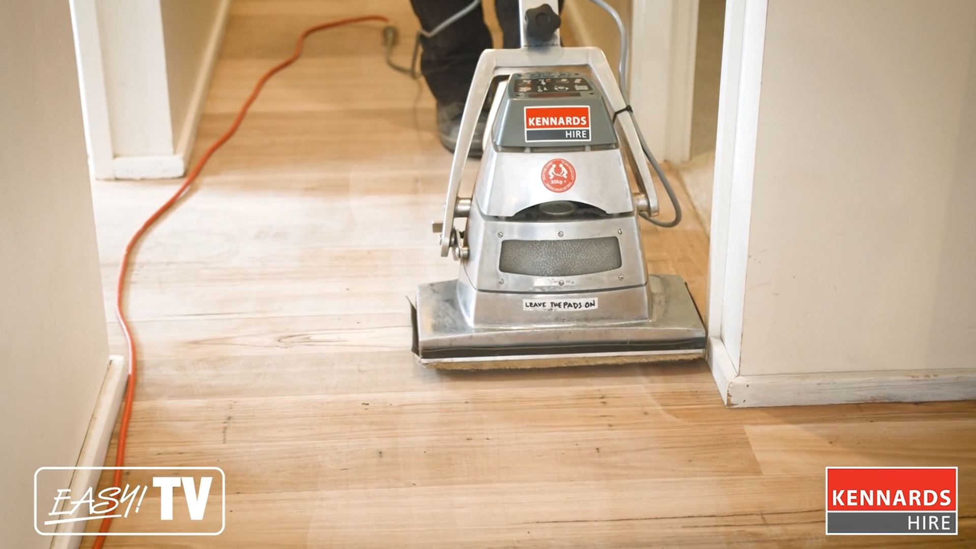 4. Using the orbital floor sander