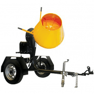 CONCRETE MIXER - 0.1 CU.MTR (3CU.FT) ELECTRIC TOWABLE