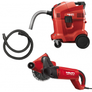 WALL CHASER 185MM INCLUDES VACUUM CLEANER
