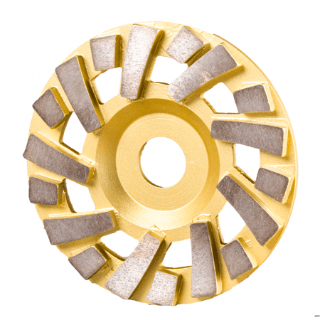 "CUP DISC  5"" - 18 SEG 120#  GOLD"