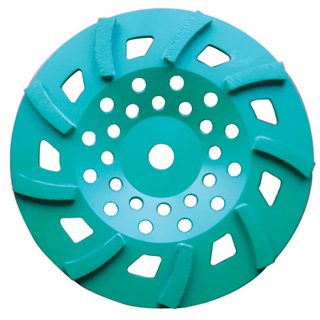 "CUP DISC 10"" -  9 SEG 30/40# GREEN"