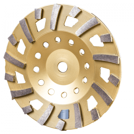 "CUP DISC 10"" - 18 SEG 120# GOLD"