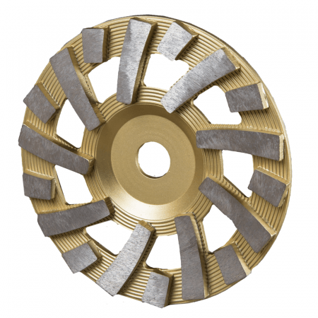 "CUP DISC  7"" - 18 SEG 120# GOLD"