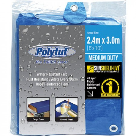 TARP POLY - 3 X 2.4M (10 X 8FT)