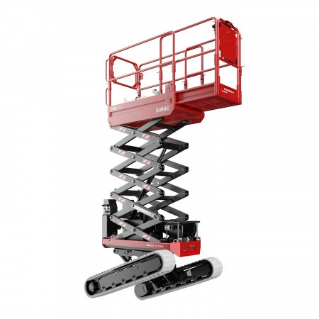 SCISSORLIFT  5.8M (19FT) TRACKED BI-LEVELLING
