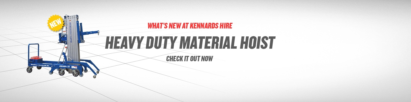 Introducing the 800kg Counter Weighted Material Hoist