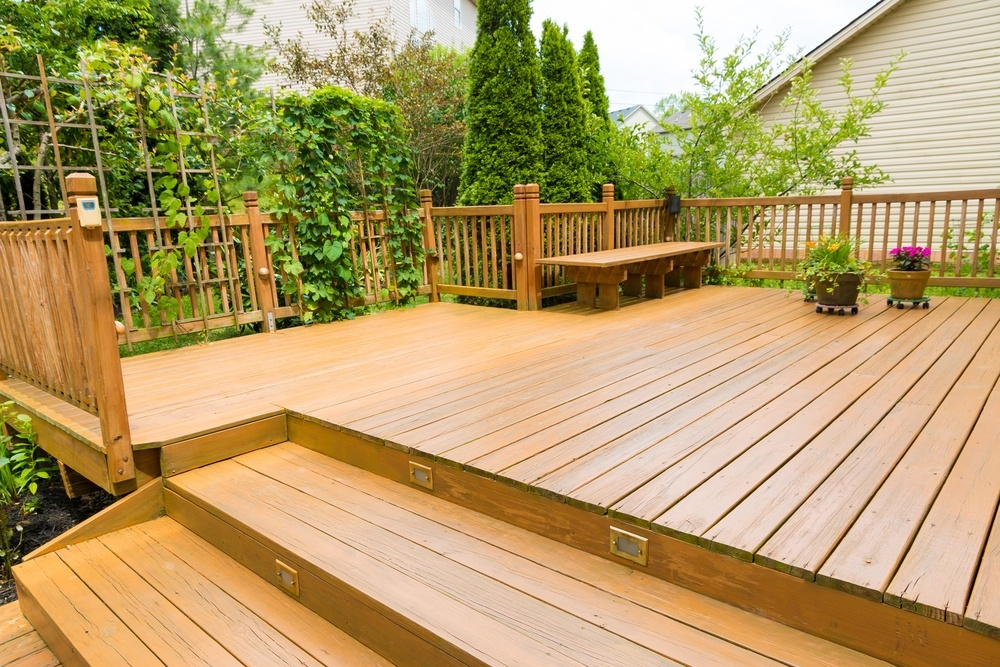 timber deck after spring clean