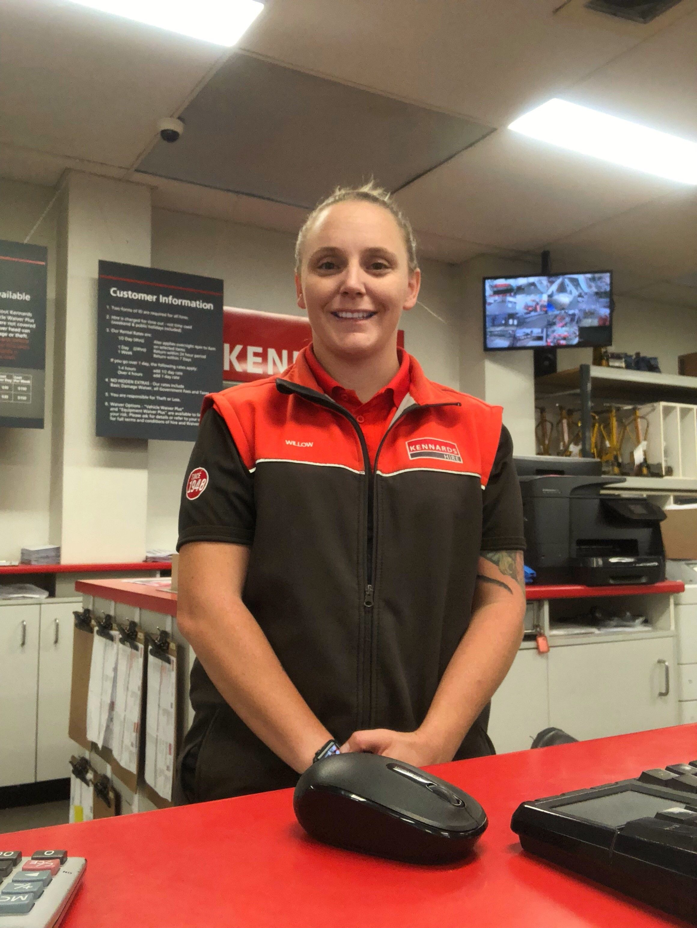 Willow Shorrocks, one of the many women who work at Kennards Hire